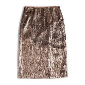 J Crew rose gold sequin pencil skirt NEW size 6 !Y